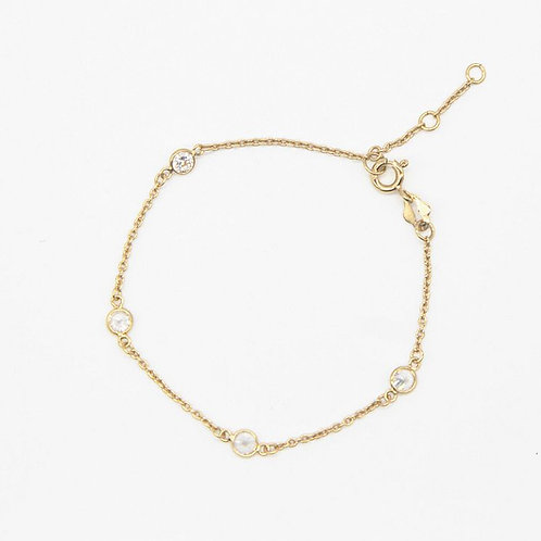 Single strand Radiant White - Gold