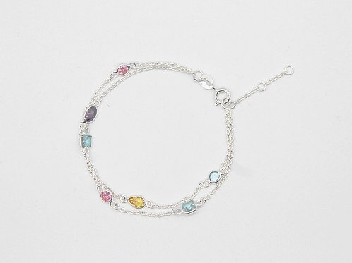 Double strands Pastels mix - Silver