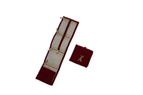 Jewellery Pouch - Medium (Ruby red)