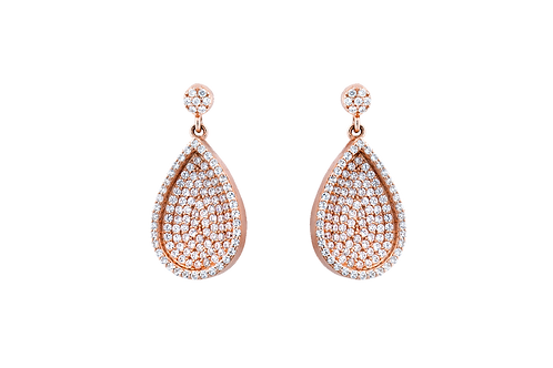 Embellished Teardrop - Earrings