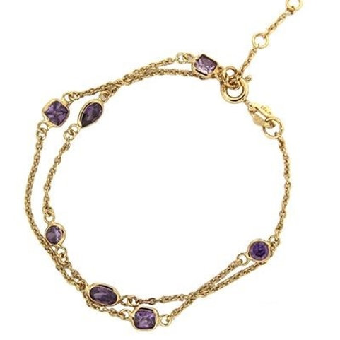 Double strands Lilac mix - Gold