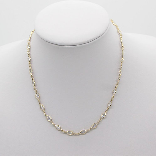 Radiant Marquee Necklace - Gold