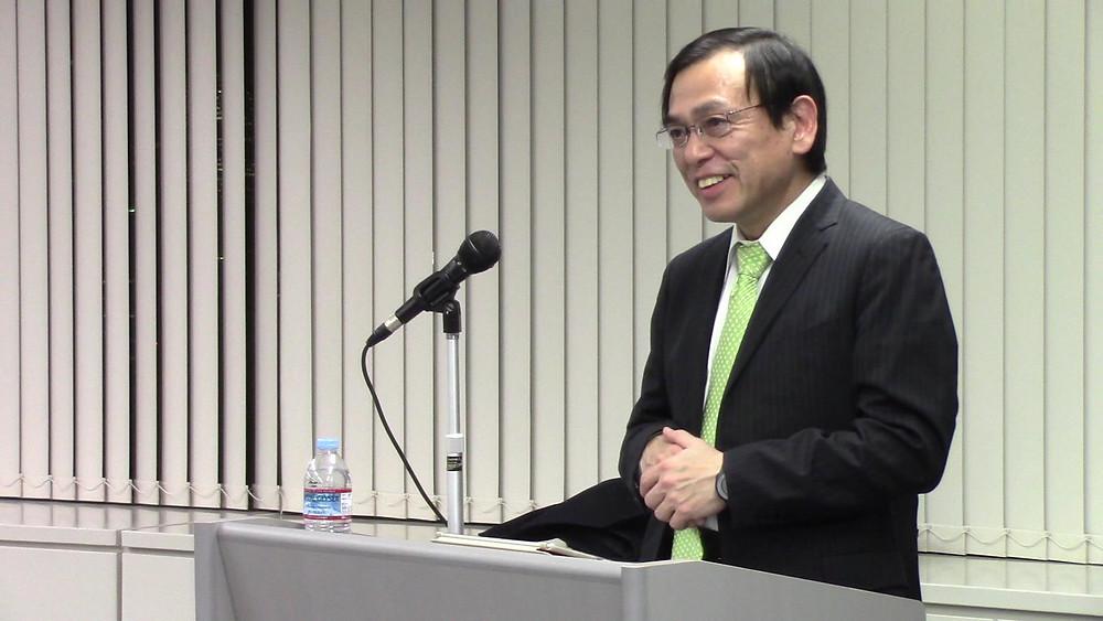 日本賢人会議所 月曜セミナーで講演する株式会社ツヴァイ 縣厚伸代表取締役社長」