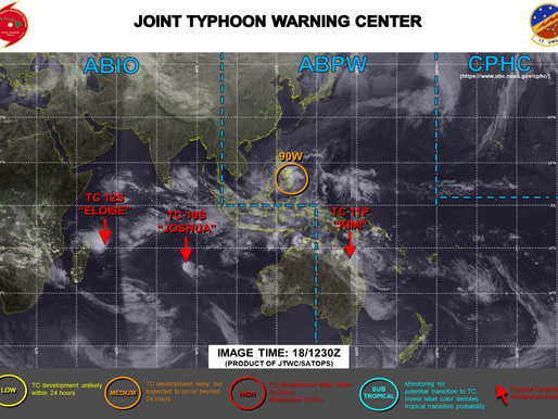 Weather Briefing at 18/1/2021