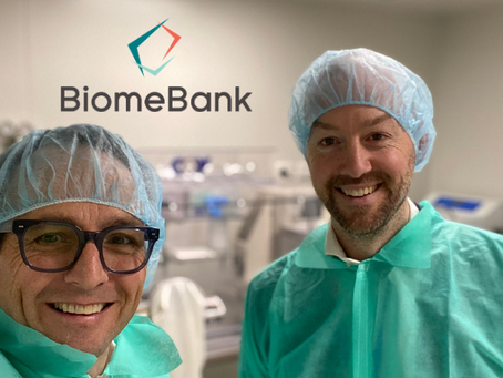 "Dr Sam Costello created a poo bank ""BiomeBank"""
