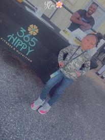 Our smallest Ambassador at her first pop up shop.