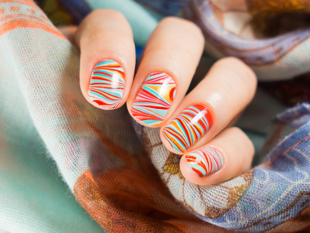 Perfect10 Marble Nail Design