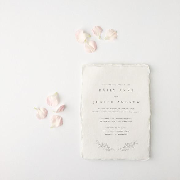 Handmade Paper Wedding Invitation