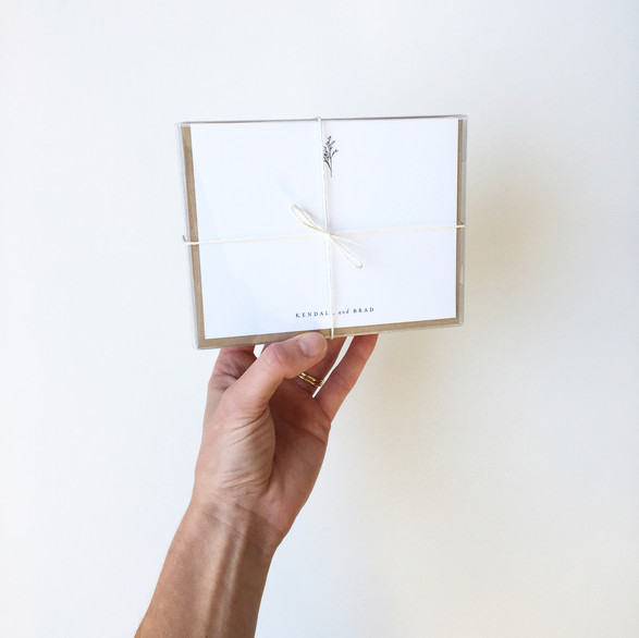 Packaged Stationery Available on Etsy