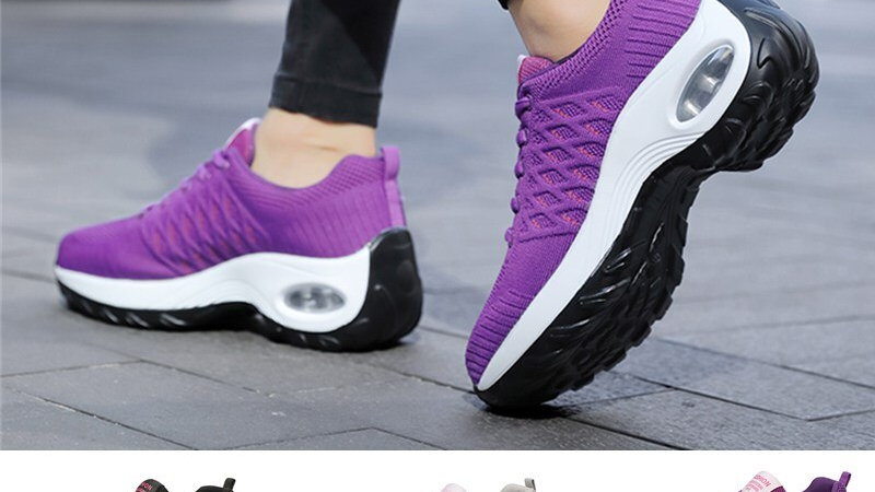 Sneakers Lightweight Women's Running Shoes Increasing Height Breathable Feminine