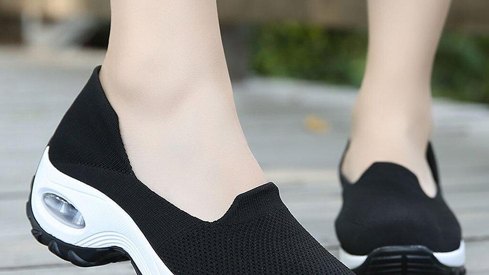 Women Casual Platform Fashion Women Mesh Casual Shoe Thick Bottom Rocking Shoe