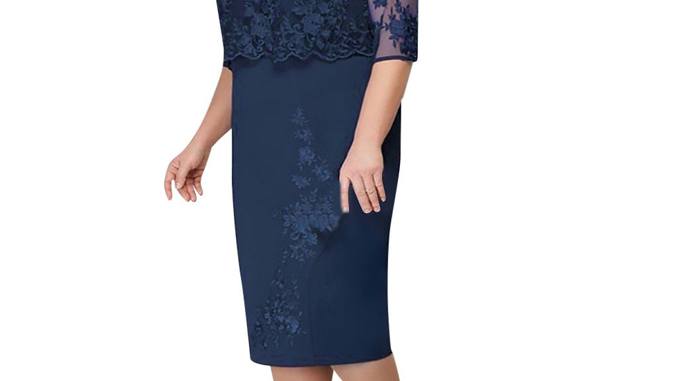Women Summer Autumn Big Size Dress Elegant Lace Dress Female