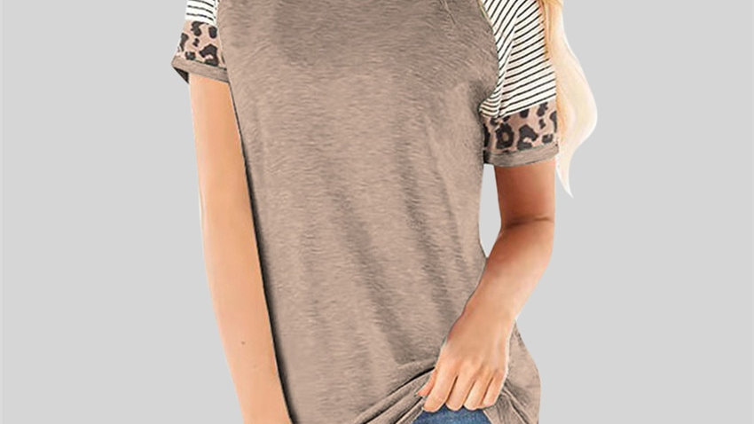 Women T-Shirt Summer Raglan Sleeve Top Slim Short Sleeve T Shirt Casual Top