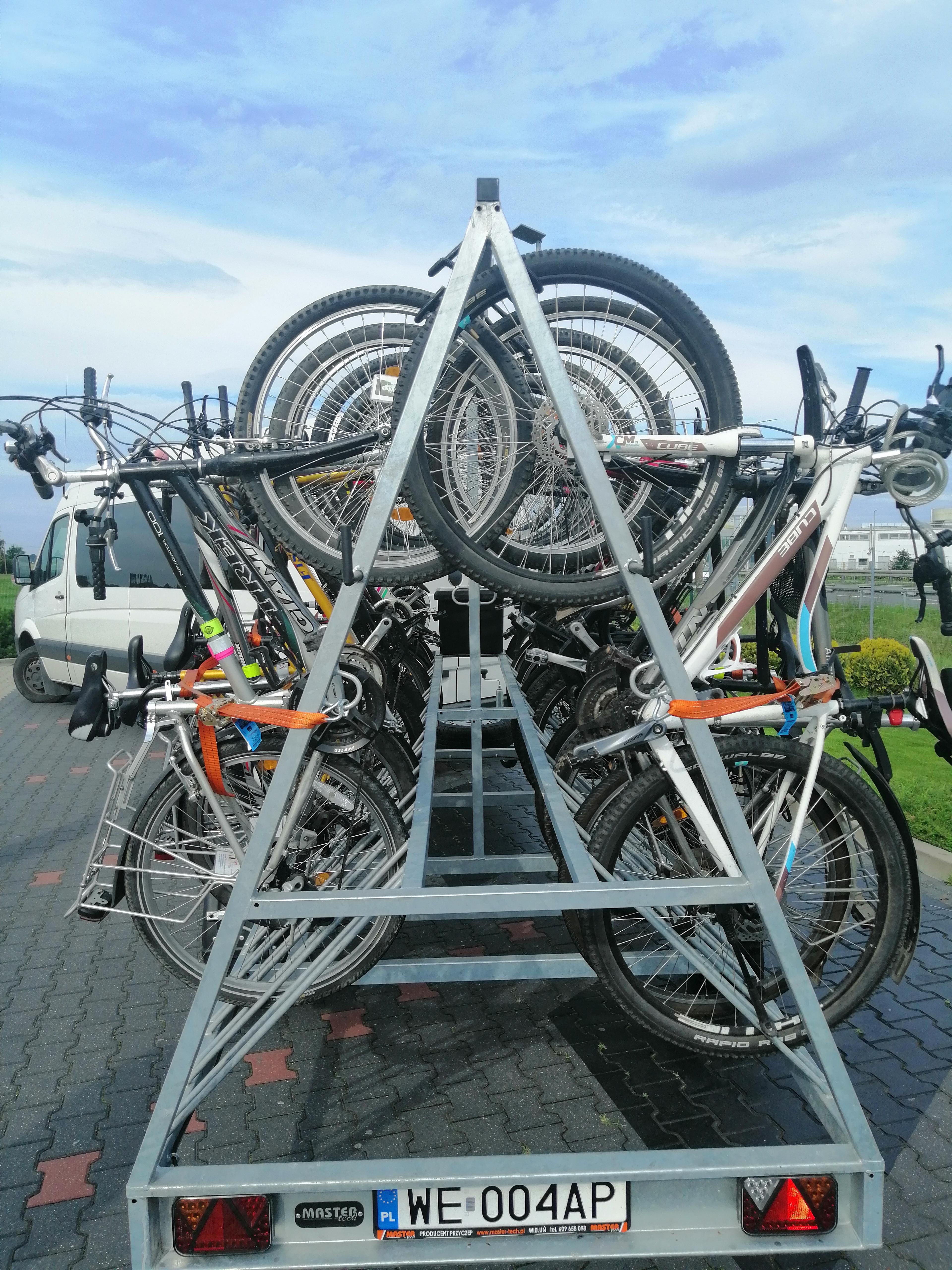 Nasze rowery na przyczepce