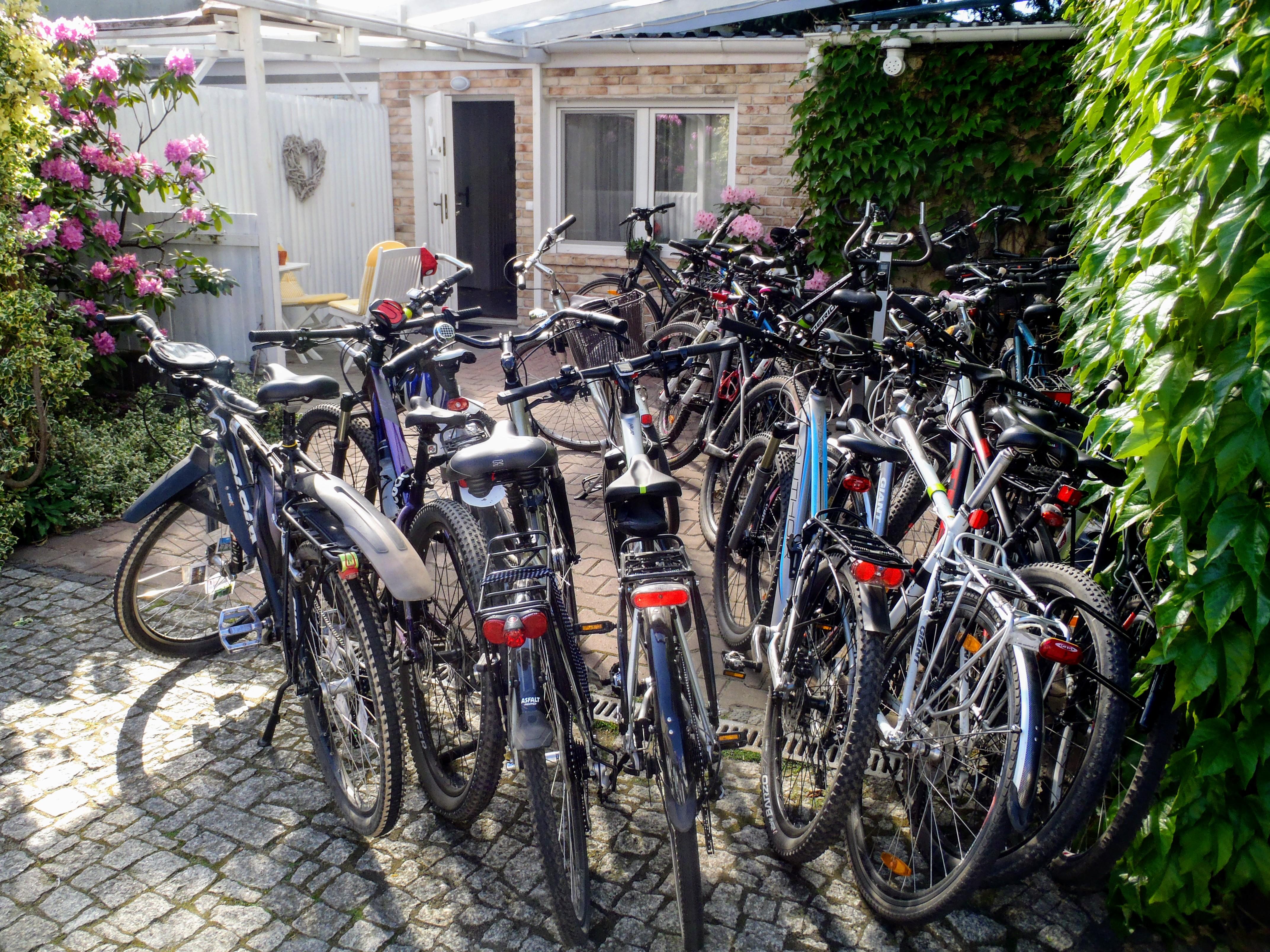 Nocleg w pensjonacie i nasze rowery