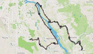 Trasa wycieczki rowerowej