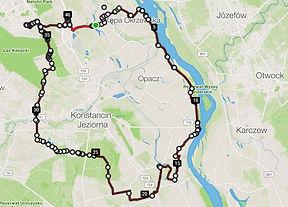 Wycieczka rowerowa mapka po Urzeczu