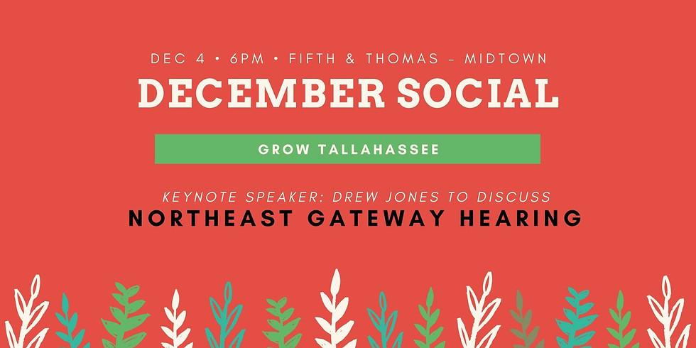 December Social: Northeast Gateway Discussion