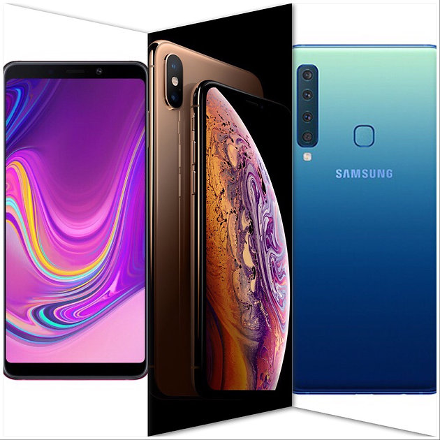 Google Pixel 3 Vs  iPhone Xs Vs  Samsung Galaxy A9