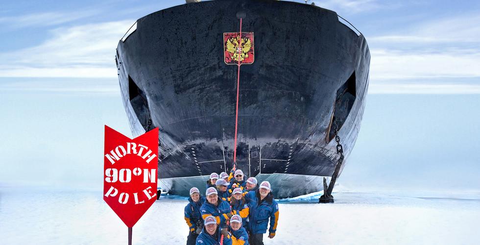 북극항해 | 북극점 도착 | 세레모니