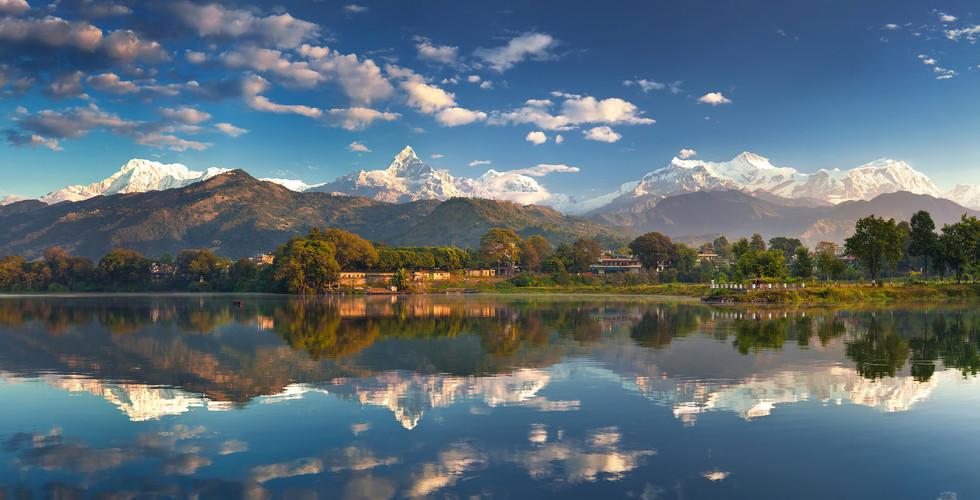 네팔 | 포카라 | 페와 호수 | 마차푸차레