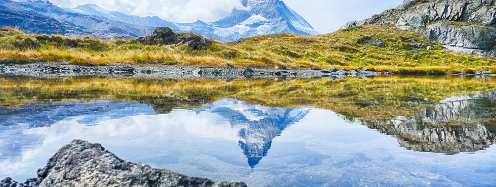 The Matterhorn with reflection in the la