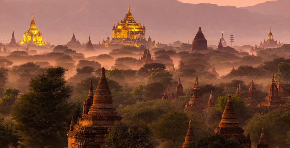 미얀마 | 파간 | 파고다 일출