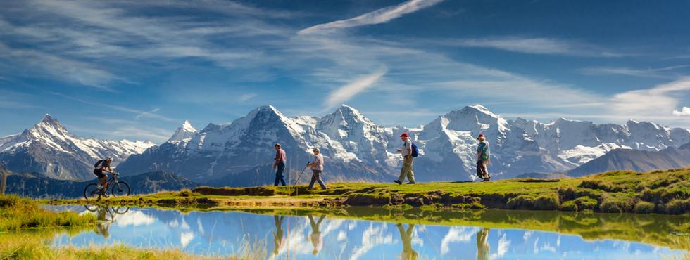 Outdoor activities in the Swiss Alps Ber