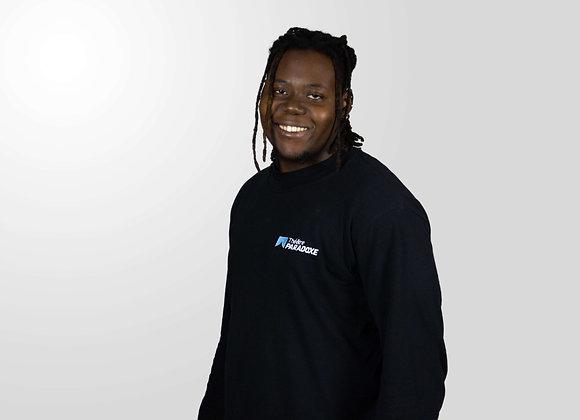 T-Shirt Coton noir à manches longues