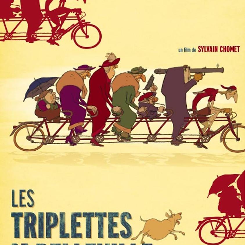 """Ciné-terrasse : """"LES TRIPLETTES DE BELLEVILLE"""""""