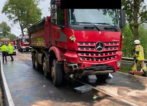 Verkehrsunfall G2 - LKW von Fahrbahn abgekommen