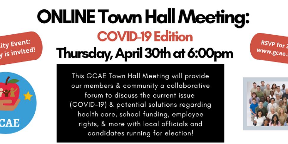 ONLINE GCAE Town Hall Meeting: COVID-19 Edition