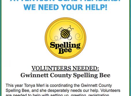 Volunteers Needed: Gwinnett County Spelling Bee