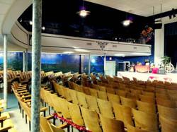GMC Hof F auditorium from bottom floor
