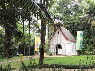 O Santuário começa a ser remontado no Jaraguá
