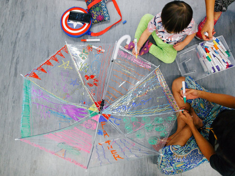 Umbrella Painting with Club Rainbow