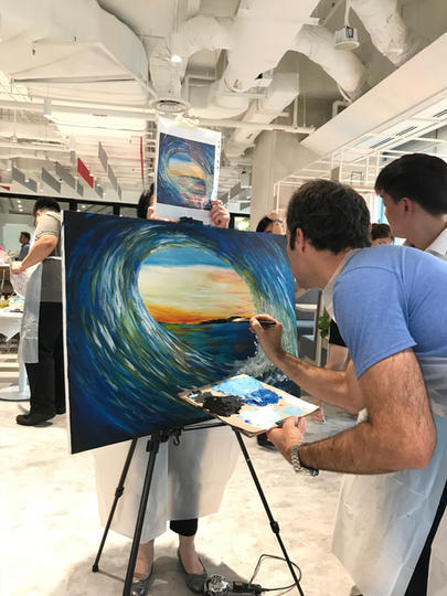 Corporate Art Jam (Off-site Group Painting)
