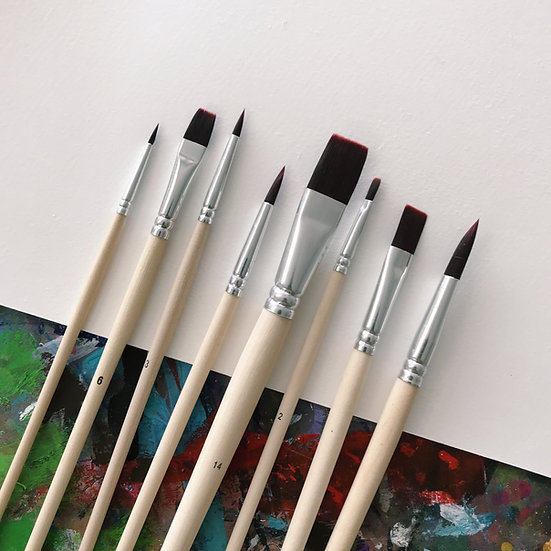 Oil & Acrylic Brush Set (8-pc)