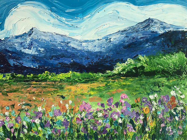 Spring Meadow Knife Painting Workshop