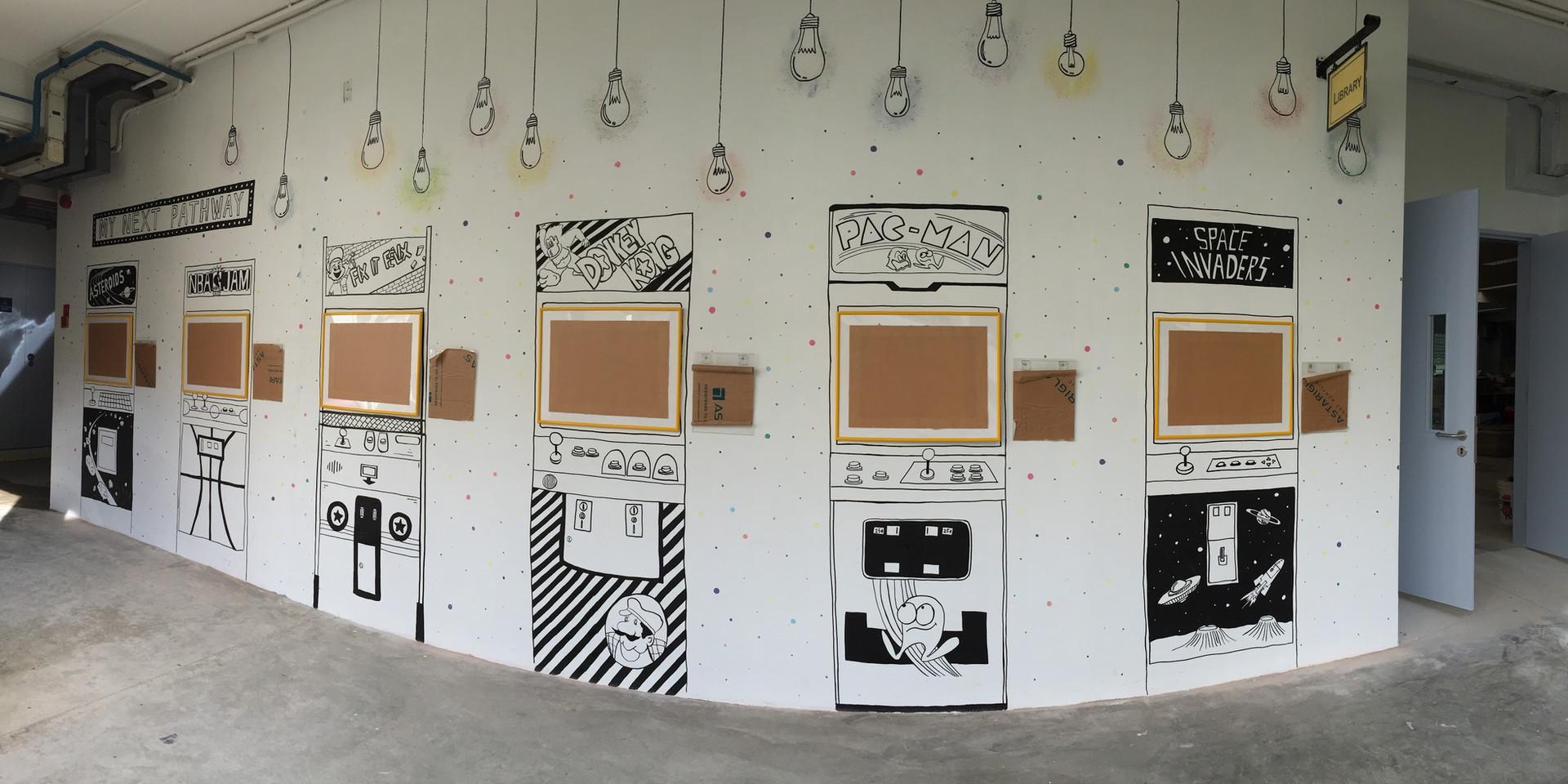 Mural at Jiemin Primary School