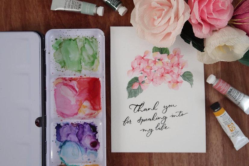 Hydrangea Watercolour