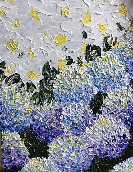 Hydrangea Knife Painting Workshop (3hrs)