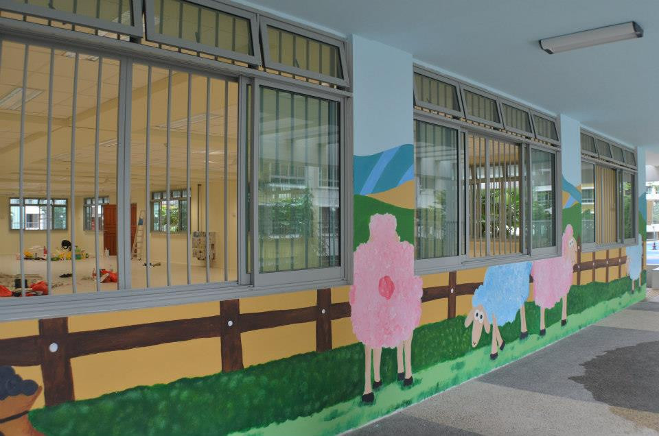 Mural at Little Mighty Me (Childcare)