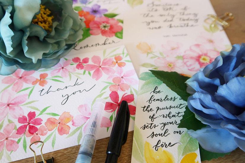 Loose Florals Watercolour Workshop