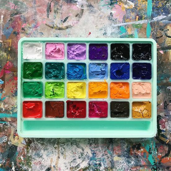 24-Colours Gouache Paint Set