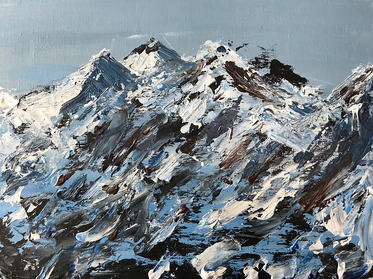 Mountainscape Knife Painting Workshop