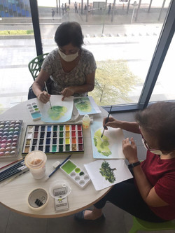 Outdoor watercolour sessions with the seniors