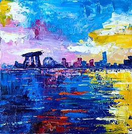 Expressive Skyline (Palette Knife Painting Workshop)