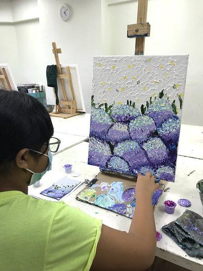 Hydrangea Knife Painting Workshop (Parent & Child)