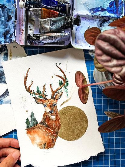 Love You Deerly (Watercolour Workshop)